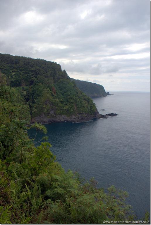 View of the seacoast, Hana Highway