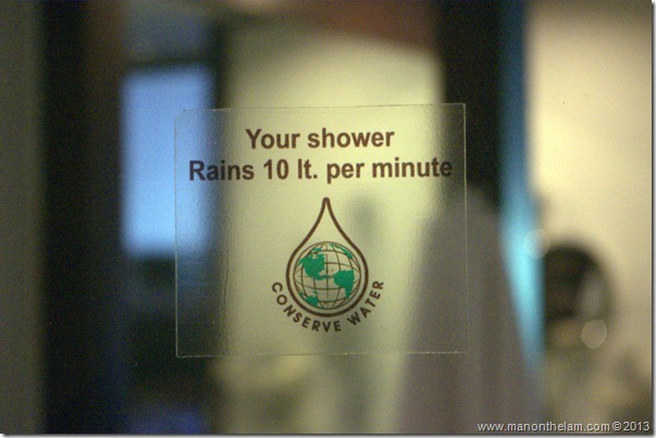 You shower rains 10 ft. per minute sticker