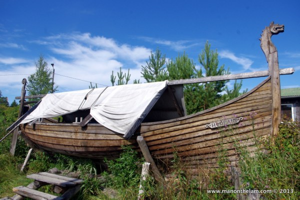 Viking funeral ship, Rosala Viking Centre, #VisitFinland