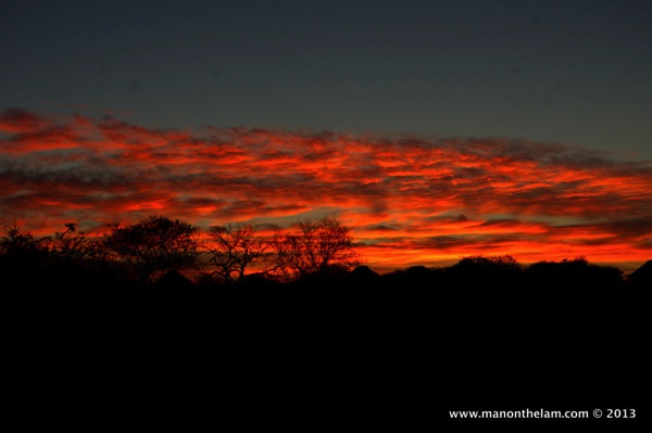 Sunset at Nthambo Tree Camp South Africa 145