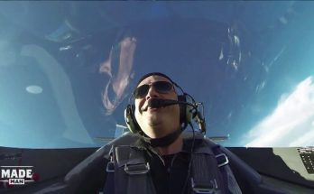 VIDEO: Flying a fighter plane, getting my ass spanked, & other #ManlyMoments