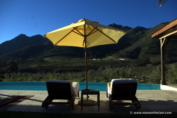 La Residence Hotel & Villas Franschoek South Africa -- pool with mountain view