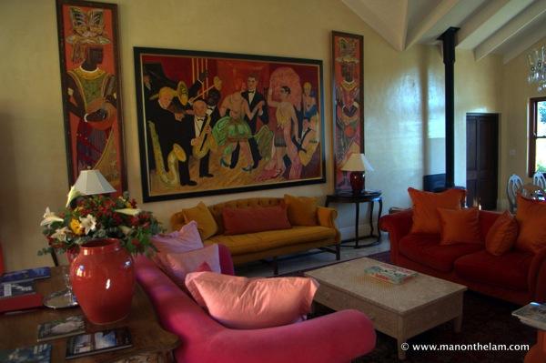 Living room, La Residence Hotel Villas Franschoek South Africa 016