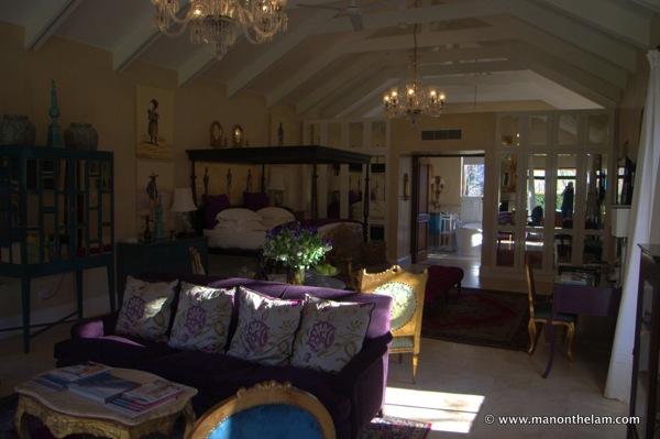 La Residence Hotel Villas Franschoek South Africa purple room