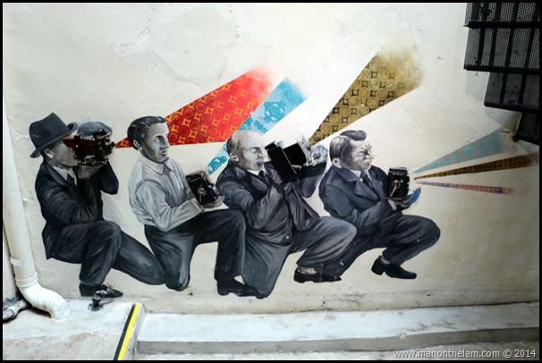 Paparazzi mural -- Penang Camera Museum, George Town, Penang, Malaysia
