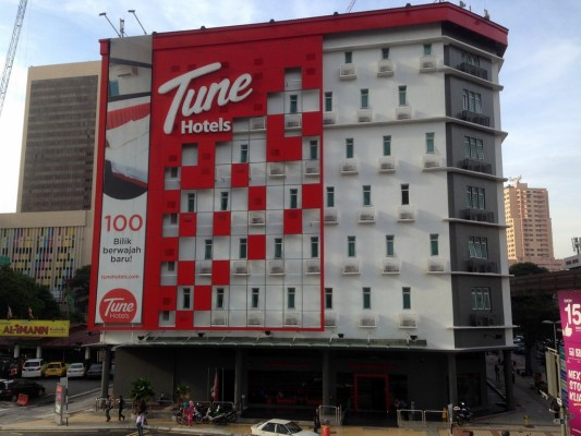 Tune Hotels Downtown Kuala Lumpur Malaysia -- building exterior