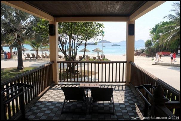 Laguna Redang Island Resort, Terengganu, Malaysia -- view from the balcony