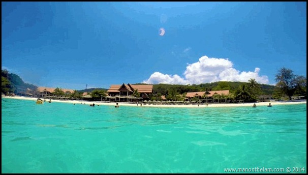 Laguna Redang Island Resort view from the water
