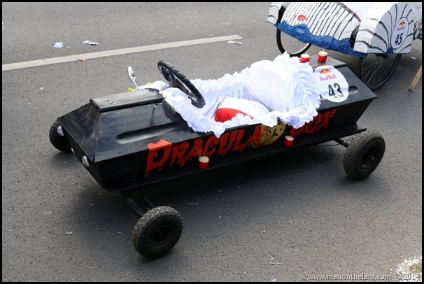 Red Bull Soapbox Race Bucharest Romania -- Dracula's coffin racer