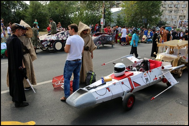 Red Bull Soapbox Race Bucharest Romania -- Star Wars X-Wing Fighter racer design