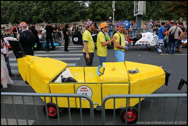 Red Bull Soapbox Race Bucharest Romania -- banana racer design
