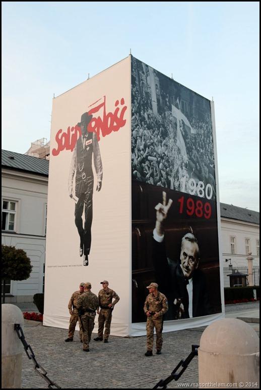 Solidarity Monument, Warsaw Poland