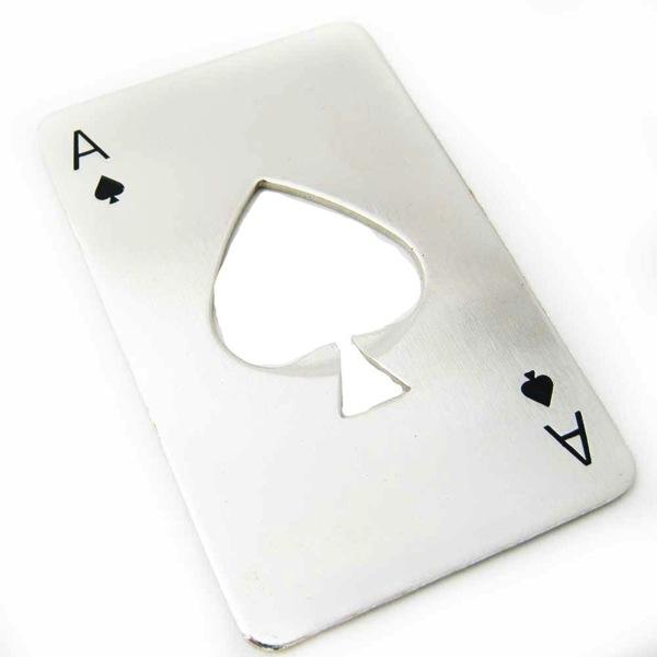 Ace of Spades Bottle Opener stocking stuffers for men gift ideas