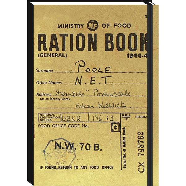 A6 journal ration book Christmas stocking stuffer vintage gift ideas for men