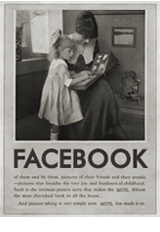 vintage facebook woman 1920s social media icon manonthelam