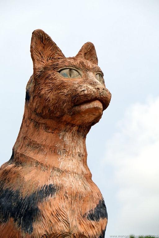 Cat statue, Kuching, Borneo, Malaysia