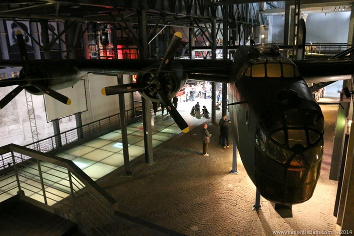 Warsaw Uprising Museum, Poland -- Hangar: a hall containing a full-size B-24 Liberator