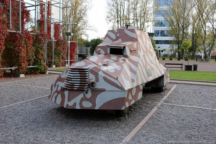 Warsaw Rising Museum, Poland -- replica of Kubuś armoured car