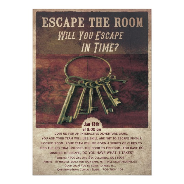 How to escape those escape the room escape games for Escape room party