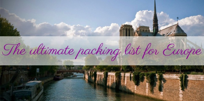 Europe Packing List The Savvy Backpacker Top 100 Travel Blog Posts of 2014 by Social Shares