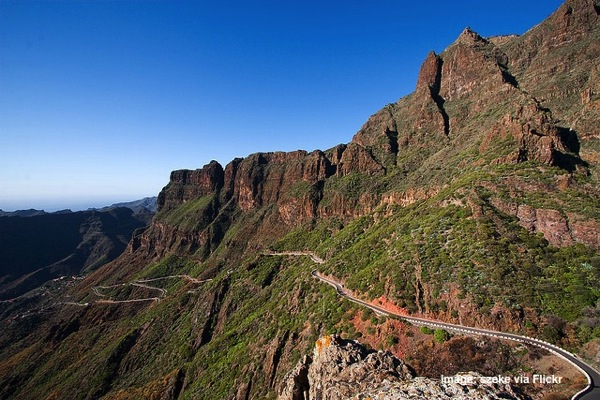 The road to Los Gigantes in Tenerife Canary Islands Spain