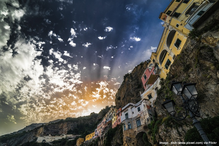 Sunset in Amalfi Campania Italy