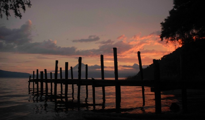 Man On The Lam Top 100 Travel Blog Posts of 2015 so far by social media shares  Sunset Lake Atitlan Guatemala