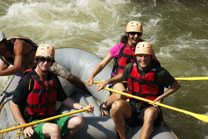 Raymond Walsh White Water Rafting Northern Thailand