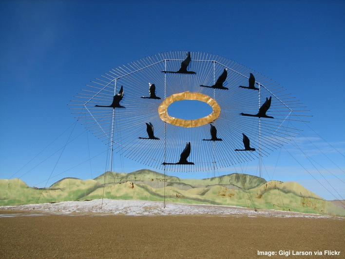 Enchanted Highway Canada Geese World s Largest Metal Sculpture Regent North Dakota