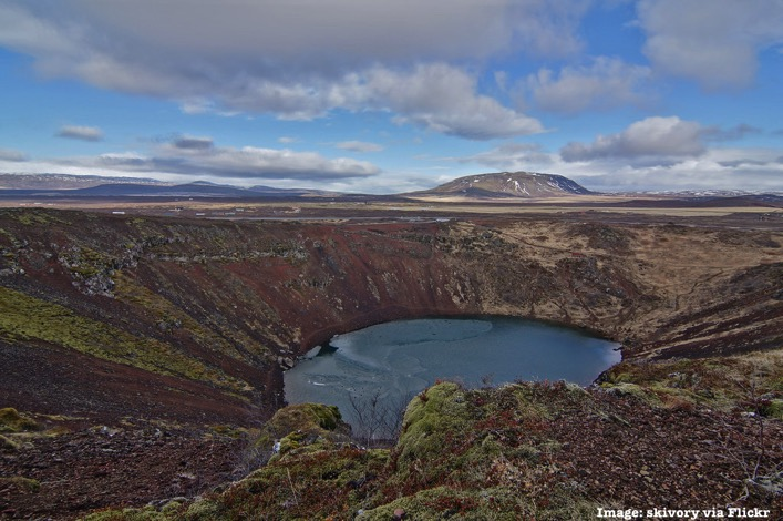 Golden Circle Iceland Kerid Crater Lake