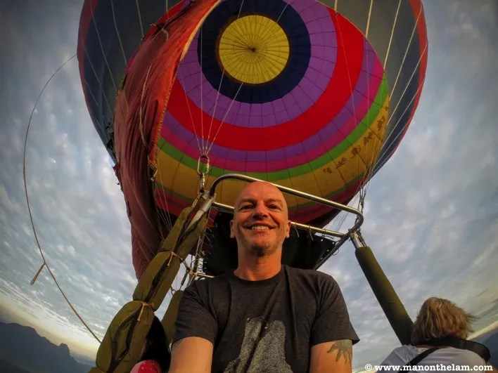 Raymond Walsh Man On The Lam Hot Air Balloon Ride Vang Vieng Laos
