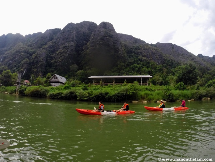 Kayaking in Vang Vieng Laos