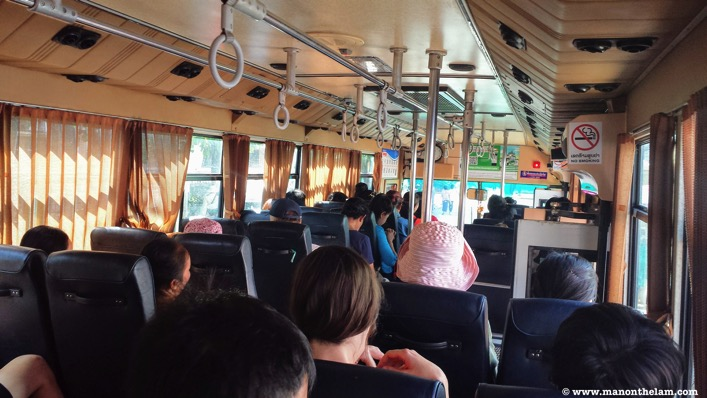 Inside Bus Number 14 to Buddha Park Vientiane Laos