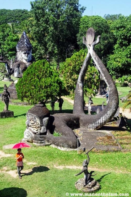 Mermaid type Buddha Hindu statue Buddha Park Vientiane Laos