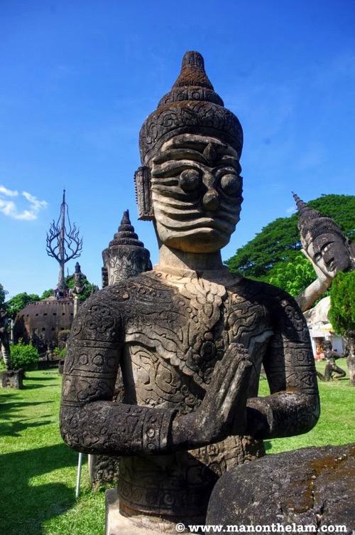 Statue at Buddha Park Vientiane Laos