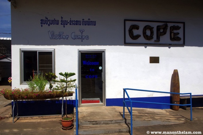 COPE Visitor Centre Vientiane Laos entrance