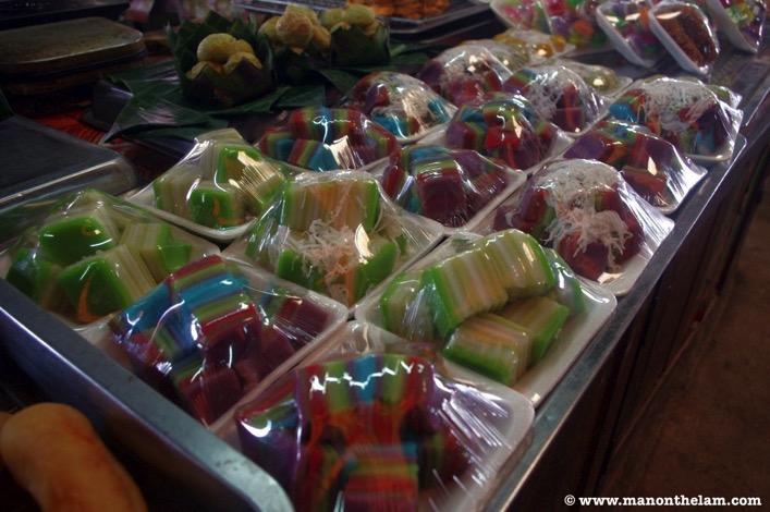 Phonsavan Laos gelatin deserts in plastic