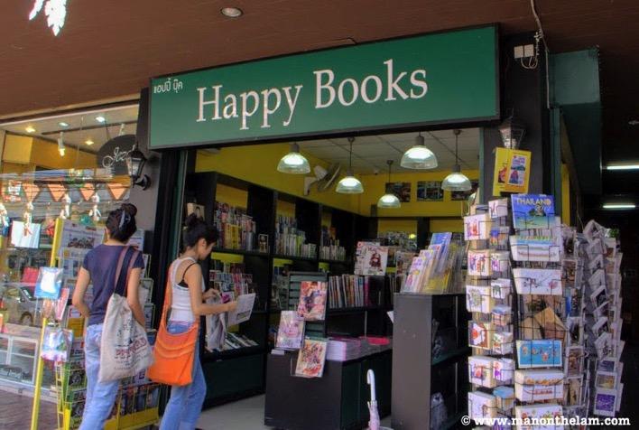 Happy Books Bookstore shop sign