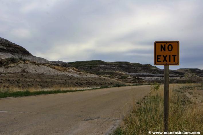 No exit sign desolate highway road trip checklist planner