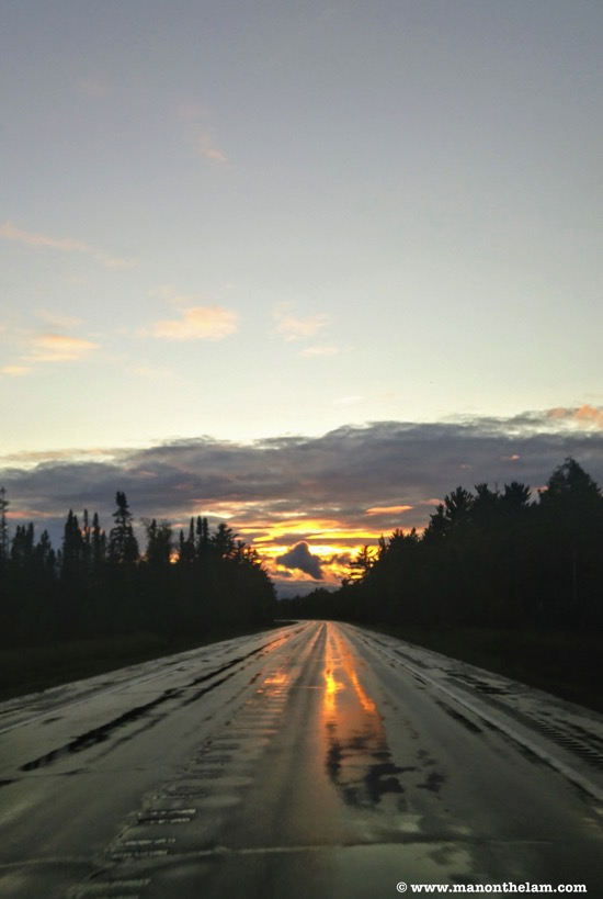 Road trip checklist planner ontario sunset wet highwayjpg