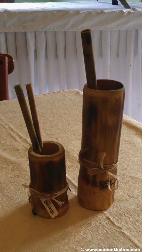 Bamboo Lao reusable bamboo straws and cups Luang Prabang Laos