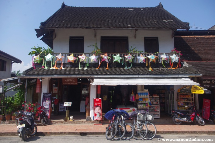 Shopping old town centre luang prabang laos
