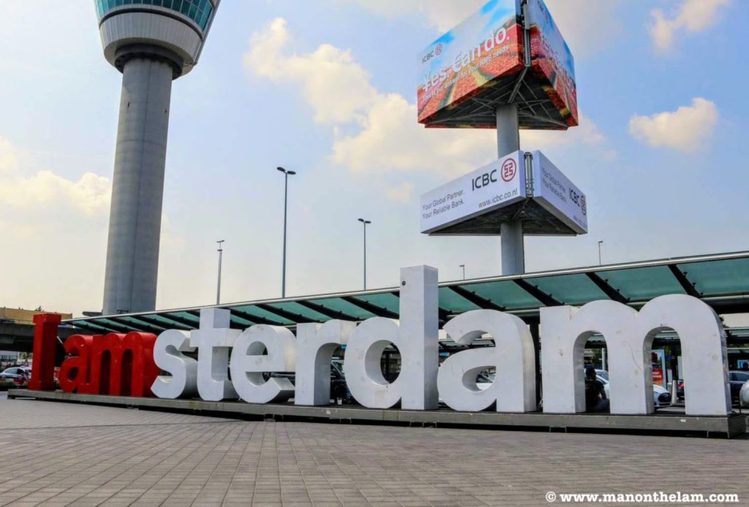 iamsterdam sign schiphol airport no people no crowds