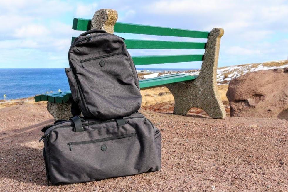 Setout Duo Bundle Tortuga backpacks weekender bag Cape Spear Newfoundland manonthelam