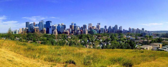 Calgary downtown skyline panorama