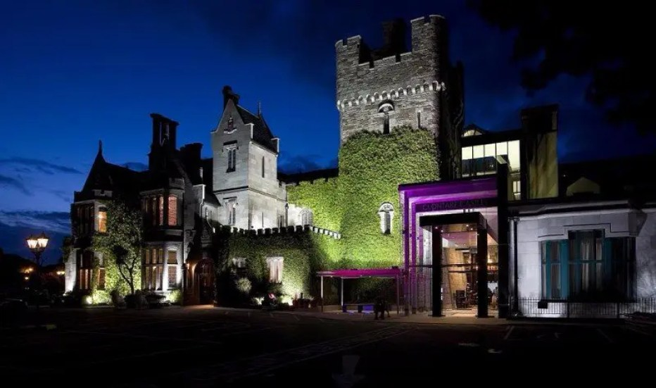 Exterior view of Clontarf Castle Hotel, Dublin, Ireland.