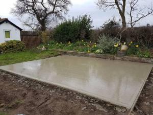Marking up & digging out shed base goldhanger10