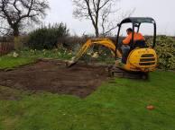 Marking up & digging out shed base goldhanger3