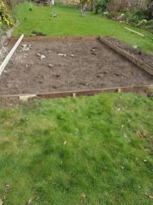 Marking up & digging out shed base goldhanger4