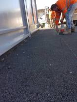 Putting in bollards at havengore Chelmsford2
